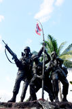 Military monument Thai–Laotian Border war or Rom Klao wars Royalty Free Stock Photography