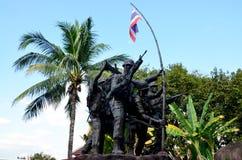 Military monument Thai–Laotian Border war or Rom Klao wars Stock Photos
