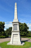 Military monument to the Perthshire Volunteers, Perth, Scotland. An obelisk commemorating the 90th Light Infantry (Perthshire Volunteers) raised in May 1794 by royalty free stock photo
