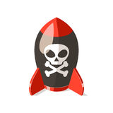Military mortar bomb icon isolated on white Royalty Free Stock Photo