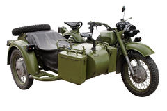 Military motor bike stock photography