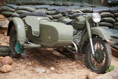 Military motor bike Royalty Free Stock Photo