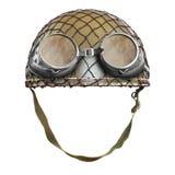 Military motorcycle helmet. Royalty Free Stock Photo