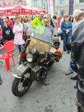 Military motorcycle in perfect condition. Royalty Free Stock Images