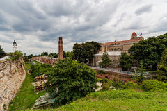 Military museum and clock tower at Belgrade fortress Royalty Free Stock Photos