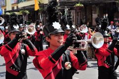 Military Musicians, Yogyakarta city festival Royalty Free Stock Photos