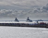 Military navy ships Royalty Free Stock Images