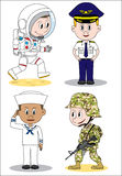 Military occupation children character Stock Photo