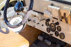 Military off-road car interior Royalty Free Stock Photos