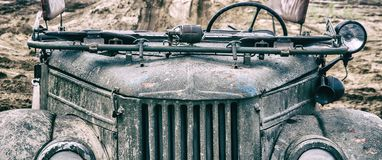 MILITARY OFF-ROAD VEHICLE Stock Photography