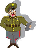 Military officer cartoon vector Royalty Free Stock Photos