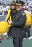 Military Officer with Little Girl Stock Images