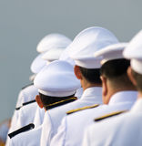 Military officers in parade uniforms Stock Image