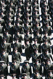 Military officers of the Russian army marching Royalty Free Stock Images