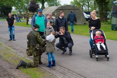 Military open days in the netherlands Royalty Free Stock Photos
