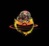 Military orange cartoon Stock Photo