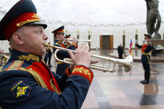 Military orchestra on ceremony Stock Photography