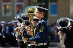 Military orchestra on ceremony Royalty Free Stock Photography