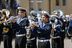 Military orchestra on ceremony Stock Image