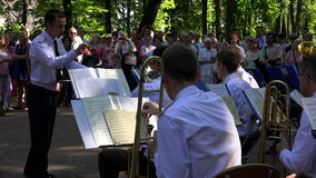 A military orchestra. 4K. stock footage