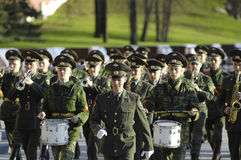 Military orchestra marching Stock Image