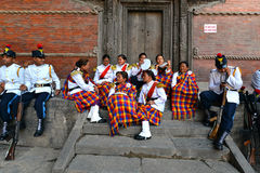The Military Orchestra of Nepal Stock Image