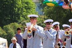 Military Orchestra On Street Royalty Free Stock Images