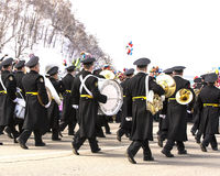 Military orchestra on parade Stock Image
