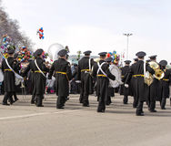 Military orchestra on parade Stock Photo