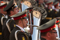 Military orchestra Stock Image