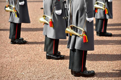 Military orchestra uniform. Detail with military orchestra uniform during parade Royalty Free Stock Photos
