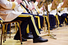 Military orchestra uniforms Stock Photo