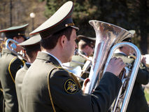 Military orchestra. War Parade Royalty Free Stock Photography