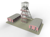 Military outpost base royalty free illustration