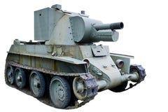 Military panzer on white Royalty Free Stock Photos
