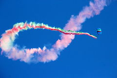 Military parachutist Royalty Free Stock Image