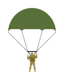 Military Parachutists Vector Illustration Royalty Free Stock Photography