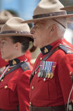 Military Parade. For Canada Day in Old Port of Montreal Quebec Canada July 1st 2009 Stock Photos