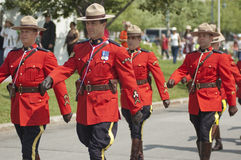 Military Parade. For Canada Day in Old Port of Montreal Quebec Canada July 1st 2009 stock photography