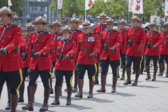 Military Parade. For Canada Day in Old Port of Montreal Quebec Canada July 1st 2009 Royalty Free Stock Photos