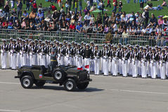 Military parade. Chile innthe september month Stock Image