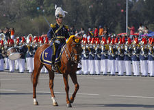 Military parade. School director chili military parade Royalty Free Stock Photography