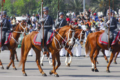 Military parade. Presidential guard mounted on military parade Royalty Free Stock Images
