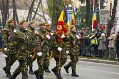 Military parade. For Romania's national day stock images