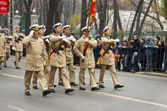 Military parade. For Romania's national day stock image