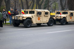 Military parade. For Romania's national day royalty free stock images