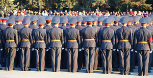 Military parade Royalty Free Stock Photos
