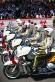 Military parade. Soldier on the bike in Taiwan at national day, Oct. 10, 2008 Royalty Free Stock Image