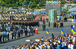 Military parade of the armed forces of Ukraine Royalty Free Stock Image
