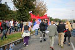 Military parade in BELGRADE Royalty Free Stock Photo